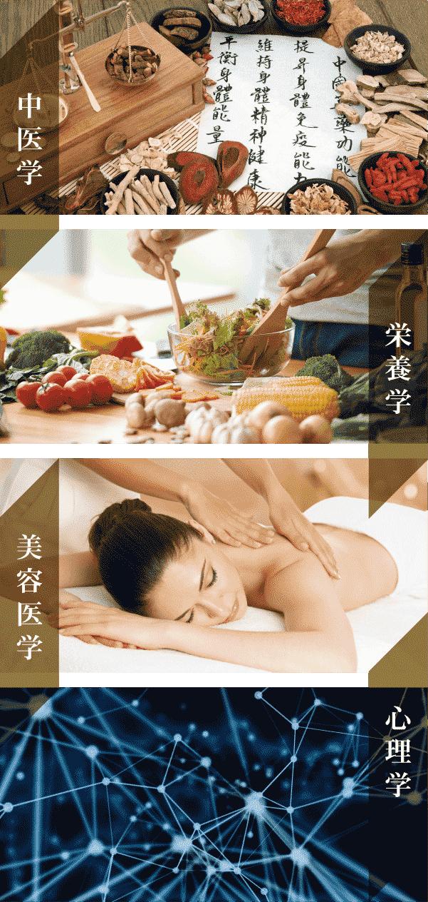 中医学・栄養学・美容医学・心理学